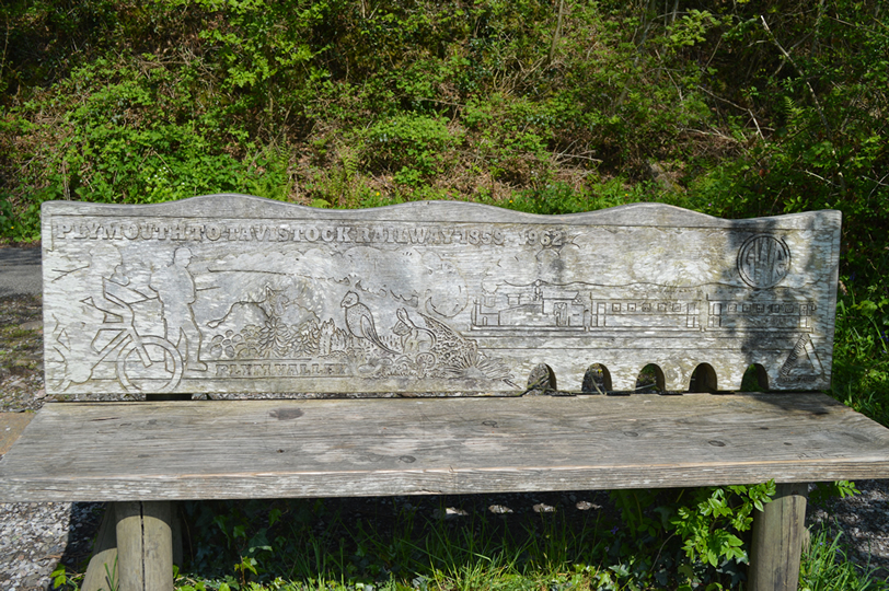 A Lovely Carved Seat on the Trail