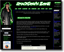 Smackdown Zone Website about WWE and TNA professional wrestling.